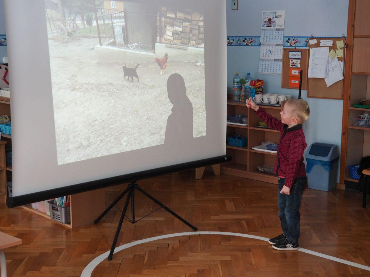 Bartek z grupy Niebieskiej opowiada o gospodarstwie wiejskim.