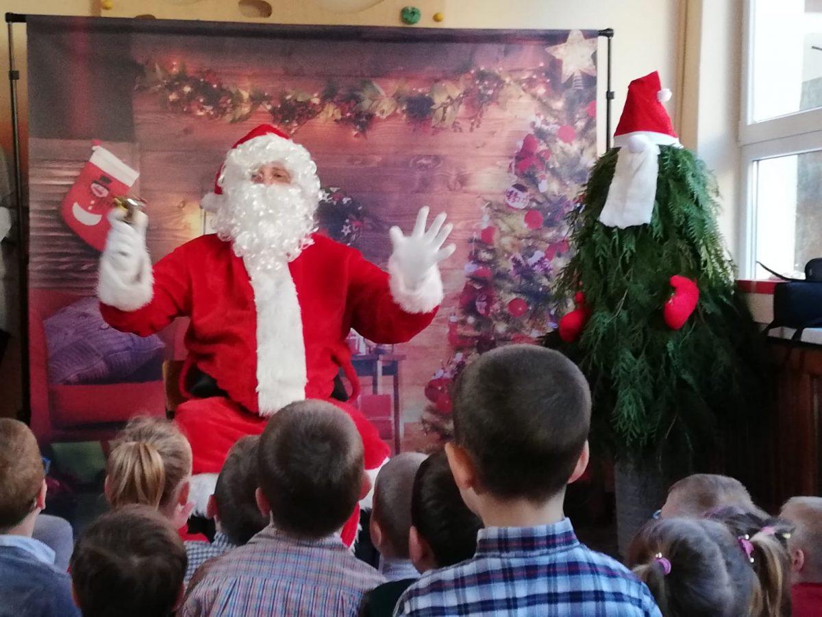 Wizyta Świętego Mikołaja.
