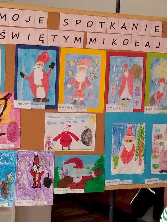 """Rozstrzygnięcie przedszkolnego konkursu"""" Moje spotkanie z Świętym Mikołajem""""."""""""