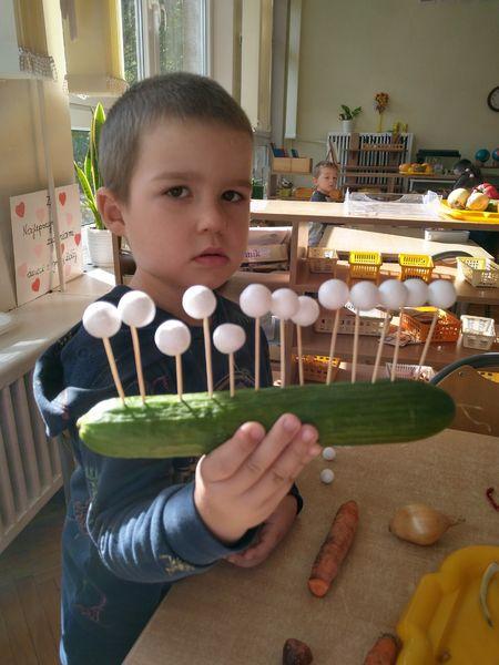 Kukiełki z warzyw w grupie Żółtej.